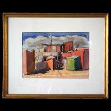 PAUL KAUVAR SMITH Watercolor Painting, Miner's House