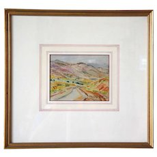 ELISABETH SPALDING Watercolor Painting, Hogback Road above Golden