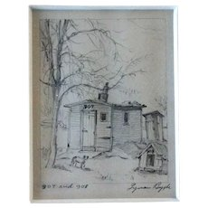 Lyman Byxbe Etching, 907 and 908