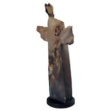JUDY NELSON-MOORE Pottery Statue, The Monk Spirit Messenger