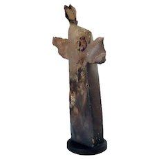 JUDY NELSON-MOORE Pottery Statue, The Monk Spirit Messenger