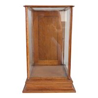 American Oak and Glass Table-top Display Cabinet