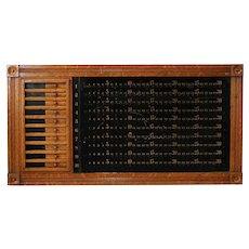 American Brunswick-Balke-Collender Co. Quarter Sawn Oak Billiards Pin Pool Board