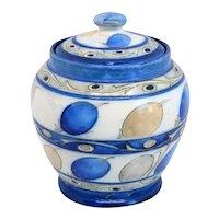 English Moorcroft Salt Glaze Pottery Honesty Pattern Tobacco Humidor