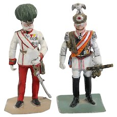 Two Painted Lead World War I Figures, Emperor Franz Joseph and Kaiser Wilhelm II
