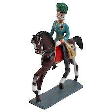 Painted Lead Miniature Figure, Emperor Franz Joseph on Horseback