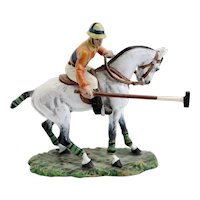 Austrian FRITZ BERMANN Cold Painted Bronze Mounted Polo Player Miniature