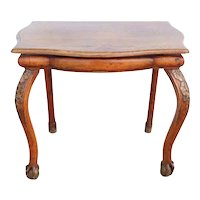 Swedish/German Birch and Oak Console Side Table