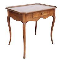 French Walnut Gallery Top Side Table
