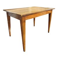 Small French Provincial Walnut Farm Table