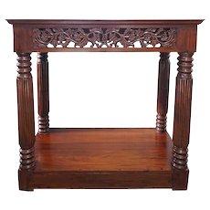 Indo-Portuguese Mahogany Console Table