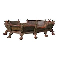 Indian Teak and Brass Palkhi Platform