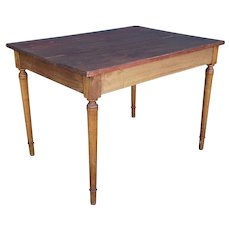 Small French Provincial Pine Rectangular Bistro Table