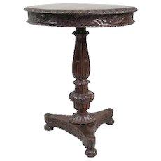 Anglo Indian William IV Rosewood Tilt-Top Pedestal Side Table