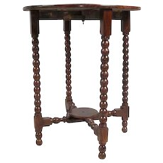 Anglo Indian Georgian Style Rosewood Round Drop-Leaf Table