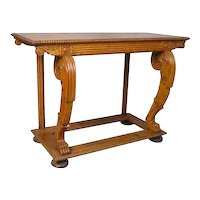 Anglo Indian Solid Satinwood Console Table