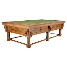Danish Blichfeldt Manor House Oak Pool and Snooker Table