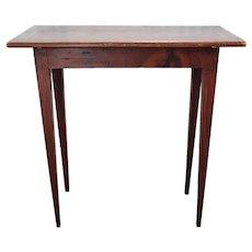 Swedish Gustavian Style Faux Grain Tapered Leg Side Table