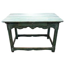Scandinavian Painted Pine Kitchen Work Table