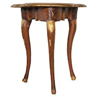 Swedish/German Baroque Painted Pine and Gilt Console Table