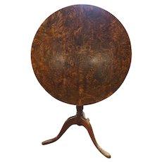 Swedish ANDERS JACOB ROSENDAHL Burled Birch Tilt-Top Pedestal Table