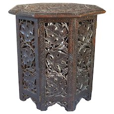 Small Indian Octagonal Folding Side Table