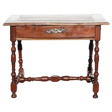 French Provincial Louis XIV Elmwood Side Table