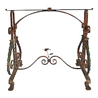 American Painted Wrought Iron Side Table Base