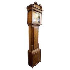 English George III James Sandiford Oak Longcase Clock