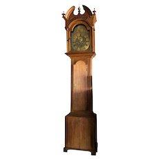 18th century Scottish Charles Allan Oak Grandfather Clock