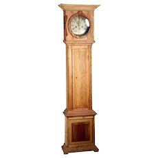 Danish Empire / Louis XVI Jens Peter Holm Pine Grandfather Clock