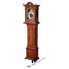 18th Century Swedish Painted Pine Longcase Clock