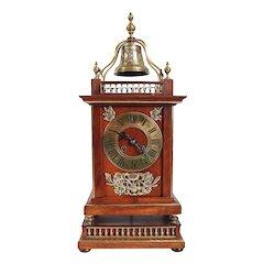Rare French Parisian Planchon Henri II Revival Walnut Bracket Clock