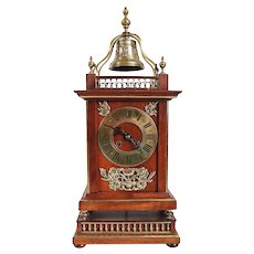 Rare French Parisian Planchon Henri II Revival Walnut Bracket Clock