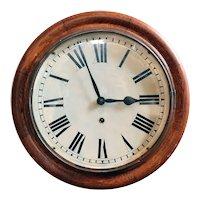 American Ansonia Oak Round Wall Clock