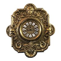 French Parisian Eugene Farcot Renaissance Revival Repousse Brass Wall Clock