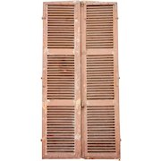 Pair of Large French Provincial Painted Pine Louvered Shutters