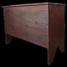 Early American New England Pine Six-Board Blanket Chest
