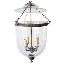 Anglo Indian Glass Four-Light Hall Lantern (Hundi)