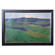 FRITZ EDVARD KARFVE Oil on Canvas Painting, Landscape
