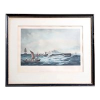 American After A. VAN BEST & R.S. GIFFORD Print, Sperm Whaling, The Chase