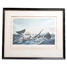 American After A. VAN BEST & R.S. GIFFORD Print, Sperm Whaling, The Capture