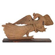 Early Teak Wood Carving of a Peacock