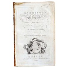 Leather Bound Book: Harrison's British Classicks, Volume 1