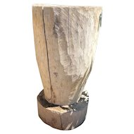 Antique Mexican Huastec Hand Hewn Log Mortar and Pestle