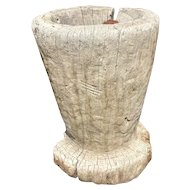 Large Mexican Huastec Hand Hewn Log Mortar