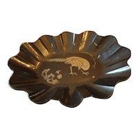 Papier Mache Fluted Bowl - Pheasant