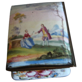 18th Century Bilston/ Battersea Enamel Box