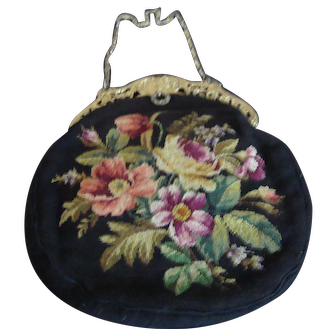 Vintage Petit Point Purse.