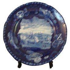 19th Century Dark Blue Historical Staffordshire - Mac Donnoughs Victory